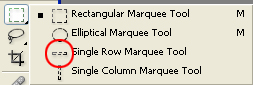 Single Row Marquee Tool